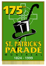175th Montreal St Patrick Day offical logo